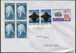 1982 Iceland Reykjavik F Cover - Sweden / Europa Postbus Magnusson - 1944-... Repubblica