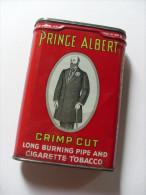 Scatola/scatoletta In Latta/tobacco Tin Prince Albert Crimp Cut Long Burning Pipe Cigarette Tobacco - Scatole