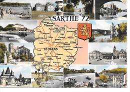 LA SARTHE - 72 - Cartes Stéréoscopiques