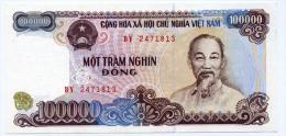 Vietnam Viet Nam 100000 Dong UNC Banknote 1994 - P#117 / 02 Images - Viêt-Nam