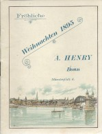Katalog Von A. HENRY Bonn, Fröhliche Weihnachten 1895 - Catalogue A. HENRY Bonn, Joyeux Noël 1895 - Publicités