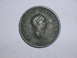 Gran Bretaña 1/2 Penique 1806 Variante (5430) - 1662-1816 : Acuñaciones Antiguas Fin XVII° - Inicio XIX° S.
