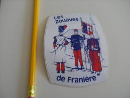 Autocollant -  Belgique - LES ZOUAVES DE FRANIERE - FLOREFFE - Autocollants