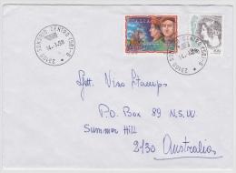 """Italien Brief 1998 Von """"23100 SONDRIO CENTRO (SO) - G *"""" Nach Australien (v004) - 1991-00: Poststempel"""