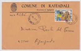 "Brief Von ""92015 RAFFADALI (AG) -G"" Nach Agrigento (v008) - 6. 1946-.. Repubblica"
