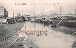 76 - ROUEN - 31 Janvier 1910 - La Crue De La Seine - Le Quai D´Elbeuf - Dos Vierge TTBE -  2 Scans - Rouen