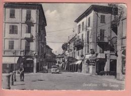 OLD POSTCARD ITALIA ITALY SAVIGLIANO + CAR Via Torino - Cuneo
