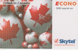 Mongolia - CDMA In Canada