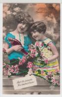 ENFANT-CHILDREN- KINDER - LITTLE GIRLS - FILLETTES Avec Fleurs Et Poissons - 1er Avril - Portraits