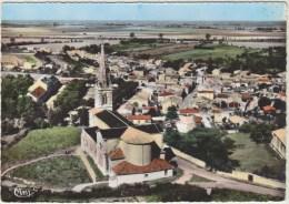 Cpsm 85 Vendee L Ile D Elle Vue Aerienne L Eglise - Autres Communes