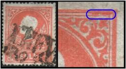 Austria - Lombardy Venetia (Emp: Franz Josef) 5s. (Sc # 10) Error: A Couple Of Marks Found At Upper Part (Used) - 1850-1918 Empire