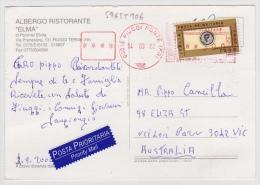 """AK Von """"03015 FIUGGI FONTE (FR)"""" Nach Australien (v012) - 6. 1946-.. Repubblica"""