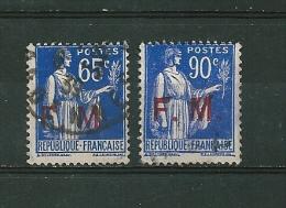 Franchise Militaire  N°8 Et 9  Oblitéré - Franchise Stamps