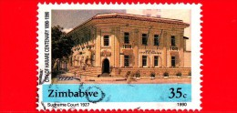 ZIMBABWE - 1990 - Suprema Corte, 1927 - City Of Harare Centenary - 35 - Zimbabwe (1980-...)