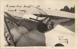 Aviateur Valaisan Jean-René Pierroz - Carte Signée - Aviateurs