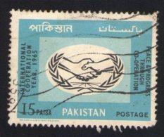 Pakistan 1965 Oblitéré Used Stamp Peace & Progrès Bleu - Pakistan