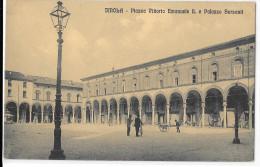 EMILIA ROMAGNA-IMOLA PIAZZA VITTORIO EMANUELE II E PALAZZO SERSANTI - Imola