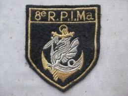 Ecusson En Tissu 8ème Régiment Parachutiste D´infanterie De Marine (8 RPIMa) & - Stoffabzeichen