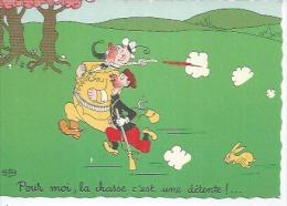 35 - POUR MOI, LA CHASSE C'EST UNE DETENTE !...  - DESSIN: DUBOUT - Dubout