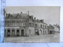 CPSM (44) Loire Atlantique - SOUDAN - Quartier Bon Accueil  (Coll Marsollier) - Café Gautron (bestiaux) - France