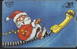 """Alte Telefonwertkarte  """"Weihnachtskarte Der ÖPT"""" - Timbres & Monnaies"""