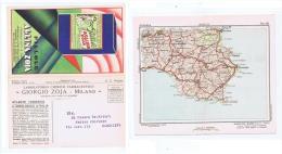 ZOJA ( MILANO ) CARTOLINA PUBBLICITARIA  - CARTA GEOGRAFICA CATANIA - 1932 - Non Classificati