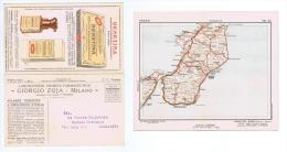 ZOJA ( MILANO ) CARTOLINA PUBBLICITARIA  - CARTA GEOGRAFICA REGGIO CALABRIA 1932 - Commercio