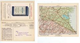 ZOJA ( MILANO ) CARTOLINA PUBBLICITARIA DOPPIA - CARTA GEOGRAFICA BOLOGNA - 1931 - Commercio