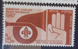 05 INDIA 1967 SG 558 - 60th Anniv Of Scout Movement - MNH - India