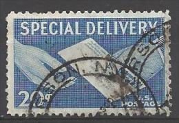 1954 Special Delivery, 20 Cents, Used - Special Delivery, Registration & Certified