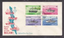 Malawi, 1967 Former Ships Of Lake Malawi, First Day Cover, - Malawi (1964-...)