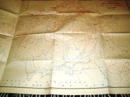 CARTE COLONIALE- ALGERIE -DEPARTEMENT D'ORAN-1957 - Carte Geographique