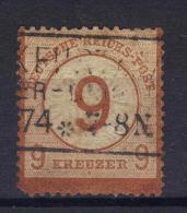 W877 - GERMANIA 1874 , 9 Kr N. 29 Usato .  Difetti Di Trasparenza . - Allemagne