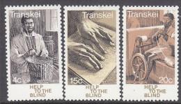 TRANSKEI, 1977 BLINDNESS 3 MNH - Transkei