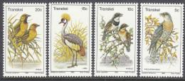 TRANSKEI, 1980 BIRDS 4 MNH - Transkei