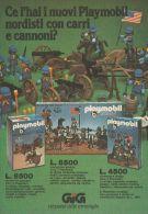 Playmobil Nordisti Con Carri Armati - GIG - Pubblicità 1976 - Advertising - Publicités