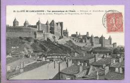 Dépt 11 - Cité De CARCASSONNE  - Vue Panoramique De L'Ouest - Défenses, Avant-Porte Du Château, Tour De Justice... - Carcassonne
