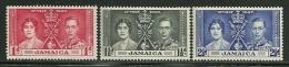 "Jamaica        ""Coronation""   Set    SC# 113-15  MNH** - Jamaica (...-1961)"