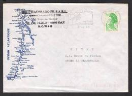 FRANCE Postal History Cover With Slogan Postmark DAXCT 17-6-1988 Map - Marcophilie (Lettres)