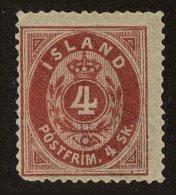 Iceland Scott #2, 1873, Hinged - Neufs