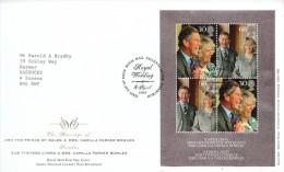 GB 2005 Royal Wedding SS On FDC. - 2001-2010 Em. Décimales
