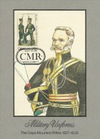 South Africa Ciskei 1984 Military Uniforms, The Cape Mounted Rifles, Maximum Card - Ciskei