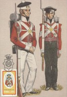 South Africa Ciskei 1986 Military Uniforms, The 98th Regiment Of Foot, 20c Maximum Card - Ciskei