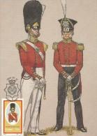 South Africa Ciskei 1986 Military Uniforms, The 98th Regiment Of Foot, 25c Maximum Card - Ciskei