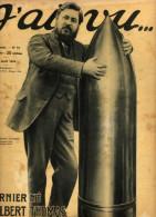 J'ai Vu...-L'obus De 400-guerre Aérienne Serbie, Aviateur Le Bourhis-les Anglais Tuent Le Zeppelin L15 échoué Tamise - Newspapers