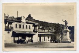 Alg�rie--CONSTANTINE--La gare et la statue de Constantin (anim�e,voiture) ,cpsm 14 x 9  n� 923  �d La Cigogne
