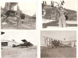 PHOTO AVIATION US ARMY AVION TRIPLANE 8th SQUADRON USAAF INSIGNE AERONAUTIQUE GUERRE ??? PILOTE TENUE VOL