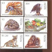 NEVIS   1067-72  MINT NEVER HINGED SET OF STAMPS OF BIRDS ; ANIMALS ; ENDANGERED SPECIES - Vögel