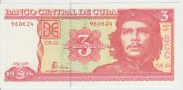 Cuba 3 Pesos 2004 Pick 127 UNC