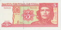 Cuba 3 Pesos 2004 Pick 127 UNC - Cuba